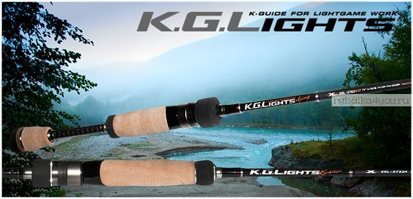 Спиннинг  Major Craft K.G.LIGHTS KGL-S802M 2.44м / тест 0.5-5гр