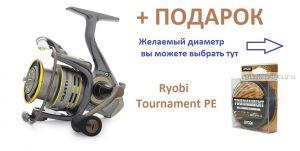 Катушка Ryobi Slam 1000 + шнур Ryobi PE Tournament 4x 120 м в подарок!