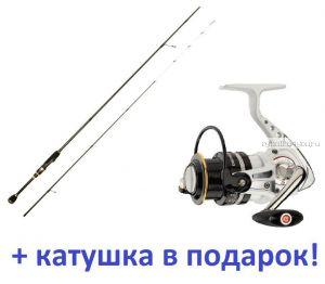 Спиннинг Aiko Jannjeta JNT 662ULT 1.99м / тест 0.5-4гр  + катушка Cormoran Pearl Master 2000  в подарок!