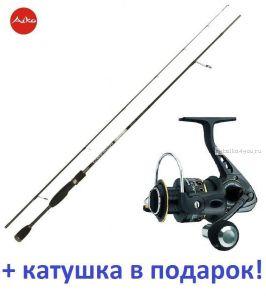 Спиннинг Aiko Oberon 632M 191 см 6-32 гр+ катушка Cormoran Black Master 3000  в подарок!
