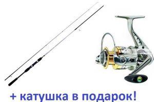 Спиннинг AIKO Espada ESP240ML 5-25 гр + Катушка Cormoran Bull Fighter-5AiF 3000 в подарок!