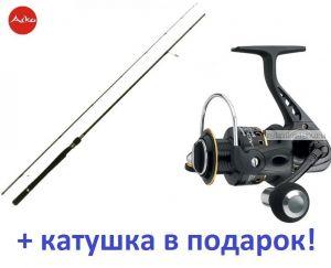 Спиннинг Aiko Shooter 842 M ( 255 см 8-28 гр)+ катушка Cormoran Black Master 3000  в подарок!