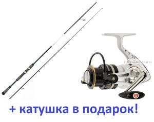 Спиннинг Aiko Realizer 244ML 244 см 4-24 гр+ катушка Cormoran Pearl Master 2500  в подарок!