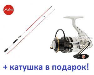 Спиннинг Aiko Ressens 280MH 280 см 10-48 гр+ катушка Cormoran Pearl Master 3000  в подарок!