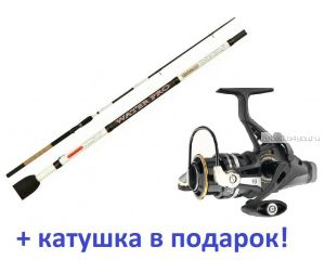 Фидер  AIKO WATER PRO 1102LF 333 см / до 60 гр+ катушка Cormoran Black Master BR 3000 в подарок!