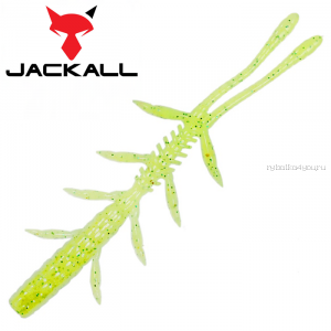 "Мягкая приманка Jackall Scissor Comb 3,8""   / упаковка 7 шт / цвет: glow chartreuse shad"