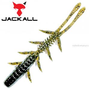 "Мягкая приманка Jackall Scissor Comb 3,8""   / упаковка 7 шт / цвет: green pumpkin/chart"