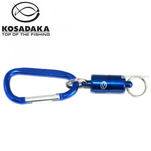 Магнитный держатель с карабином, усилие 1.5кг, Kosadaka MCH-015BL