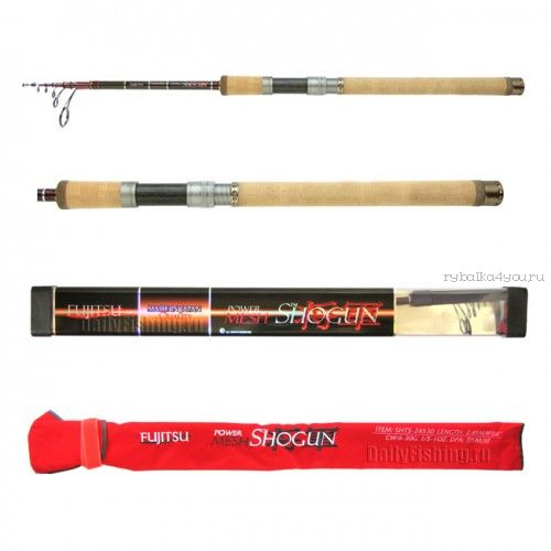 Купить Спиннинг телескоп. Fujitsu Shogun SHTS Fishing Roos TP/HV/XF 2,75 м / тест 12 - 60 гр