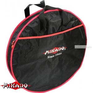 Сумка для перевозки садков Mikado круглая 1 секция (63 х 17 см.) чёрный-красный