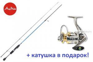 Спиннинг AIKO Dixi DIX221L 3-12 гр + катушка Cormoran Bull Fighter 5aiF 1500  в подарок!