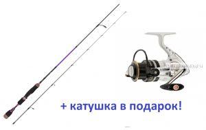 Спиннинг Aiko Margarita II 215 L-T 215 см 1-12 гр  + катушка Cormoran Pearl Master 2000  в подарок!