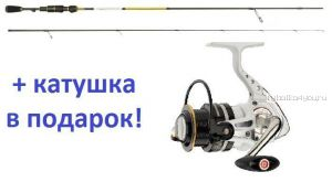 Спиннинг Aiko Tirrel II TIR II 215ULS 2.15м / тест 0.5 - 6 г + катушка Cormoran Pearl Master 2000  в подарок!