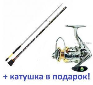 Спиннинг Aiko Izabella III IZ3-692ULS 2,06м/ тест 0,7-5гр+ катушка Cormoran Bull Fighter 5aiF 1500  в подарок!