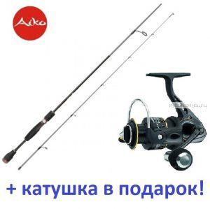 Спиннинг Aiko Baltasar II 185L (185 см 2-16 гр)+ катушка Cormoran Black Master 3000  в подарок!