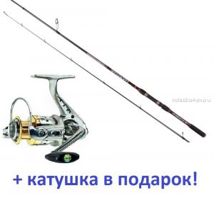 Спиннинг AIKO Harpija HRP 248М 248 см/10-34гр + Катушка Cormoran Bull Fighter-5AiF 3000 в подарок!