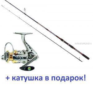 Спиннинг AIKO Harpija HRP 244МH 244 см/12-38гр+ Катушка Cormoran Bull Fighter-5AiF 3000 в подарок!