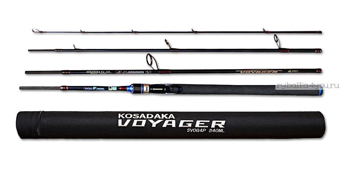 Купить Спиннинг Kosadaka Voyager 4Pro (в тубусе) 4 секции 2,40м (3-17г)