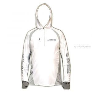 Футболка Kosadaka ISS-TS-W ICE SILK SUNBLOCK белая, UV защита, с капюшоном, дл.рукав