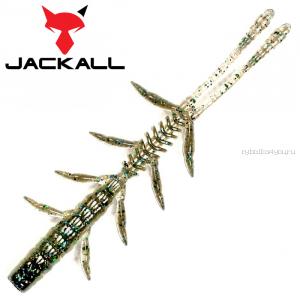 """Мягкая приманка Jackall Scissor Comb 3,0""""   / упаковка 8 шт / цвет: dark thunder iwashi"""