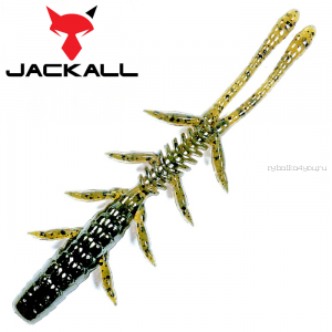 "Мягкая приманка Jackall Scissor Comb 3,0""   / упаковка 8 шт / цвет: green pumpkin/chart"