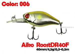 Воблер Aiko Roost cnk DR 40F 40 мм/ 4,5 гр / 0,3 - 0,5 м / цвет - 006