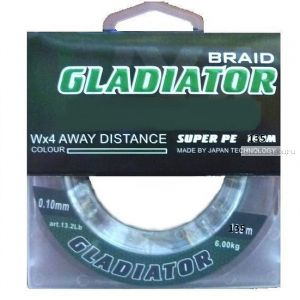Леска плетёная Gladiator PE х4  135 м / цвет: Темно-зеленый