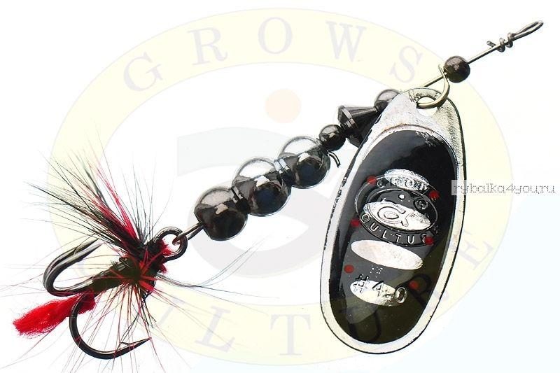 Купить Блесна Grows Culture Ball Bearing Spinner 4.0 # / цвет: №1 11,5 гр 4 см