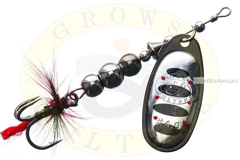 Купить Блесна Grows Culture Ball Bearing Spinner 4.0 # / цвет: №2 11,5 гр 4 см
