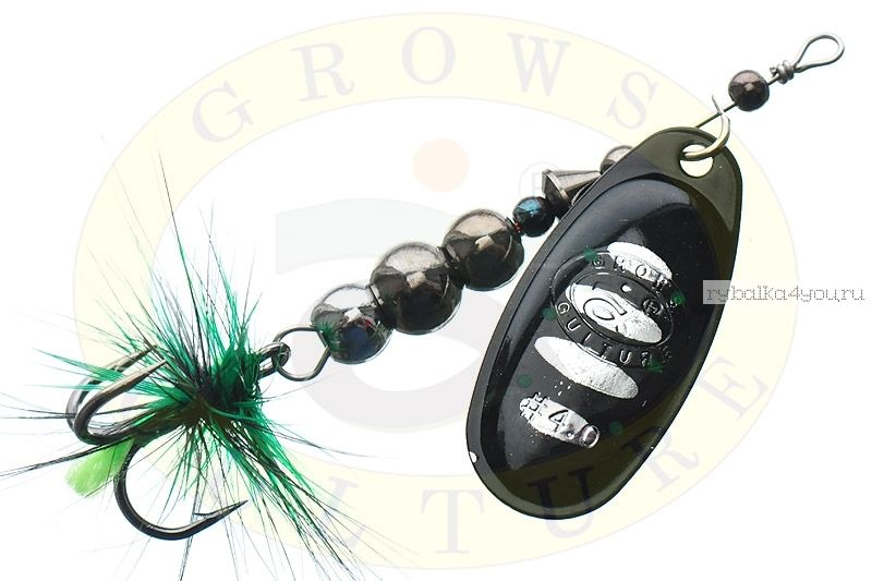 Купить Блесна Grows Culture Ball Bearing Spinner 4.0 # / цвет: №7 11,5 гр 4 см