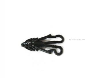 """Мягкая приманка Trout Zone Nymph 1.6""""/ 4 см / упаковка  12 шт / цвет: черный /аттракант : краб"""