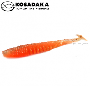Виброхвост Kosadaka Awaruna 100, 5шт., цвет ORG AWA-100-ORG