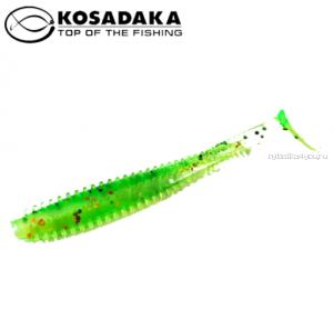 Виброхвост Kosadaka Spikey Shad 120, 4шт., цвет FTS SSH-120-FTS