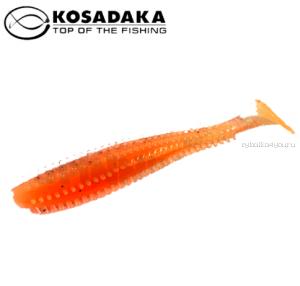 Виброхвост Kosadaka Spikey Shad 120, 4шт., цвет ORG SSH-120-ORG