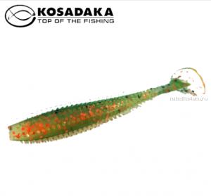 Виброхвост Kosadaka Spikey Shad 90, 9шт., цвет BOT SSH-090-BOT