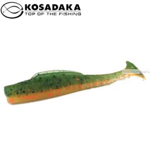 Виброхвост Kosadaka Weedless Minnow 88, 6шт., цвет BOT WM-088-BOT