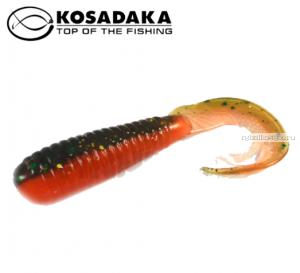 Твистер Kosadaka с разрезным хвостом Triple Tail 60, 10шт., цвет DM TTL-060-DM
