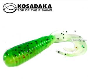 Твистер Kosadaka с разрезным хвостом Triple Tail 90, 8шт., цвет FTS TTL-090-FTS