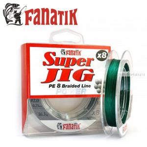 Шнур плетеный Fanatik Super Jig PE X8 100м / цвет: Green