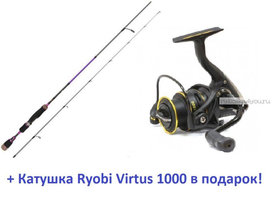Спиннинг Aiko Margarita II 180 UL-S 180см 0,5-5 гр + катушка Ryobi Virtus 1000  в подарок!