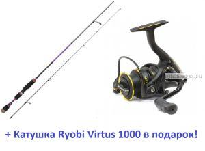 Спиннинг Aiko Margarita II 215L-S 215 см 1-10гр + катушка Ryobi Virtus 1000  в подарок!