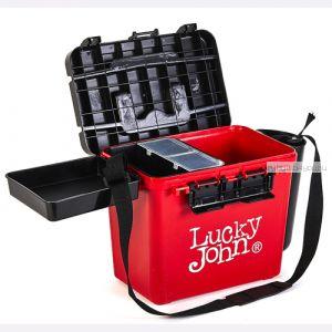 Ящик рыболовный зимний Lucky John (из 6-ти частей) 38x26x31.5cm арт  LJ2050