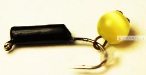 "Мормышка вольфрамовая True Weight""Кошачий глаз"" подвес d2,0 желтый"