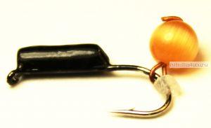 """Мормышка вольфрамовая True Weight""""Кошачий глаз"""" подвес d2,0 оранжевый"""
