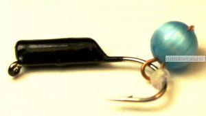 """Мормышка вольфрамовая True Weight""""Кошачий глаз"""" подвес d2,0 голубой"""
