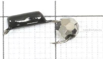Купить Мормышка вольфрамовая True Weight Гвоздешарик гвоздик d2,0 Многогранное серебро