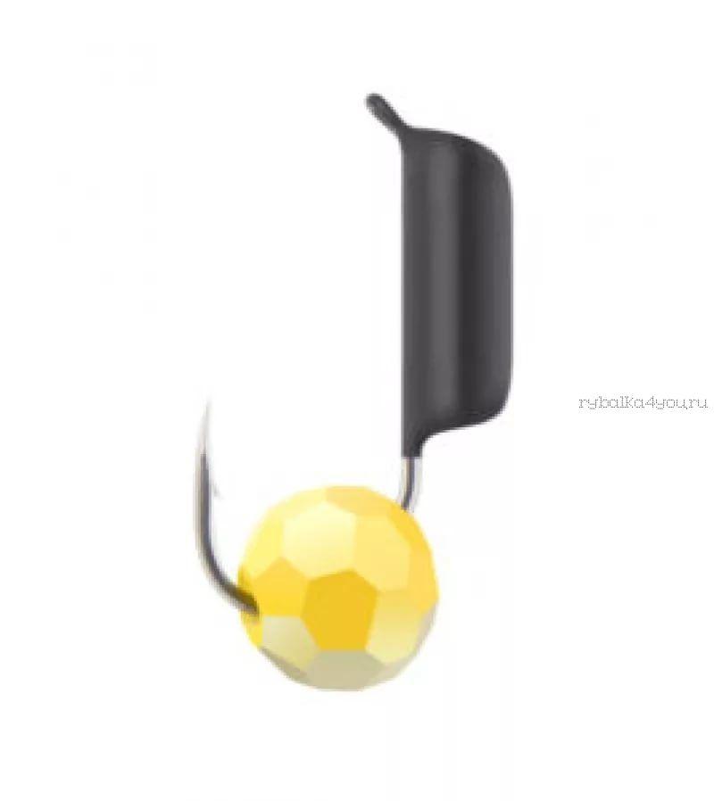 Купить Мормышка вольфрамовая True Weight Гвоздешарик гвоздик d2.5 Многогранный желтый