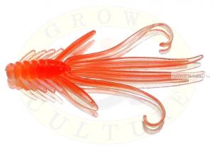 Мягкая приманка Grows Culture  Nymph Trout Red Bass 80мм (съедобные) цвет Orange/Silver