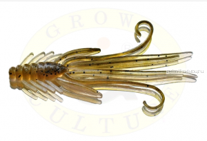 Мягкая приманка Grows Culture  Nymph Trout Red Bass 80мм (съедобные) цвет Olive/Silver