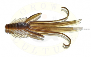 Мягкая приманка Grows Culture  Nymph Trout Red Bass 80мм (съедобные) цвет Brown/Silver